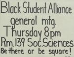 Guide to the Black Student Alliance records, 1969-2006 -- Duke University Library