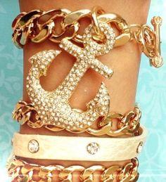 Shiny golden anchor!