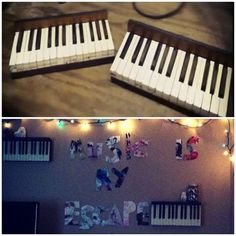The after effect of some old piano keys we turned into a shelf. - ItsJustSavvy (Savannah)