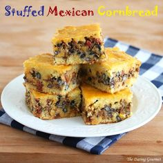 Stuffed Mexican Cornbread.  daringgourmet.com