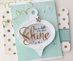 Light Of The Season Card by Danielle Flanders for Papertrey Ink (September 2014)