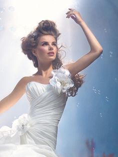 Disney Fairy Tale Weddings by #AlfredAngelo Style 210 #Ariel