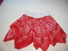 I am sooooo going to Roberts and collecting bandanas to make the girls some of these for dress up fun. :)  Everything is 40% off right now and starting monday 50% off.  Apparently they are closing out.  It'll be sooo fun to make these. I can't wait.