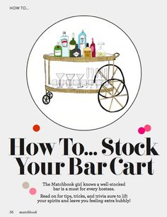 How to Stock a bar cart! Every lady should know how to mix a gimlet.