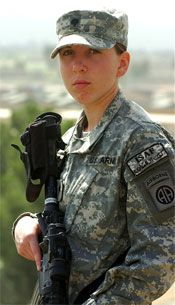 """Tiny Spc. Monica Brown, 19, an Army medic. - A vehicle was hit by an IED, her sergeant yelled, """"Doc, let's go,"""" and she went. She spotted two injured soldiers, under intense fire dragged them to cover, then received mortar shells and covered the injured with her body and started repairing them through a two hour fight. She saved them both, managed to live through it herself and received the Silver Star for exceptional valor."""