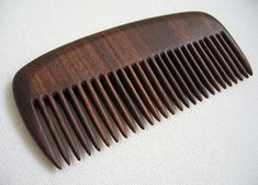 wood comb | Here's the finished article, a walnut wood Birthday beard comb...