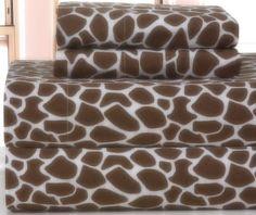 Update your bedding with our Giraffe style sheet set. #AnnasLinens #AnimalPrint