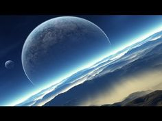 planets, mountains, moon, sky, outer space, wallpapers, wallpaper art, normandy, planet blue