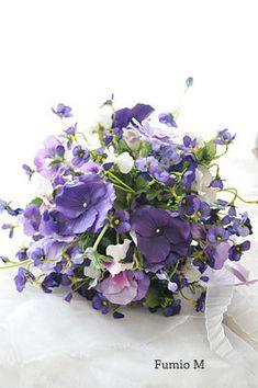 spring bouquet, blue violet, violet nosegay, garden, pansi