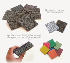 Vyrobte si vlastní a originální textury/Make your own and original textures | LUCY Struncova