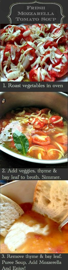 Fresh Mozzarella Tomato Soup