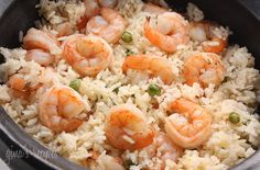 really plain shrimp and rice