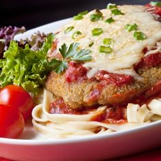 A Delicious recipe for chicken Parmesan and fettuccine. This is a family favorite�meal, great served with a salad.. Chicken Parmesan and Fettucini Recipe from Grandmothers Kitchen.