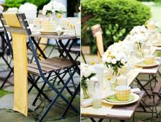 yellow bridal shower