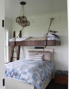 lake houses, kid bedrooms, cottag, bunk beds, bed designs, kid rooms, guest rooms, bunk room, porch