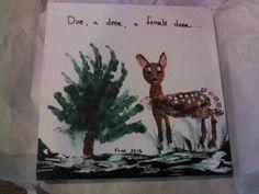 Handprint tree n deer footprint