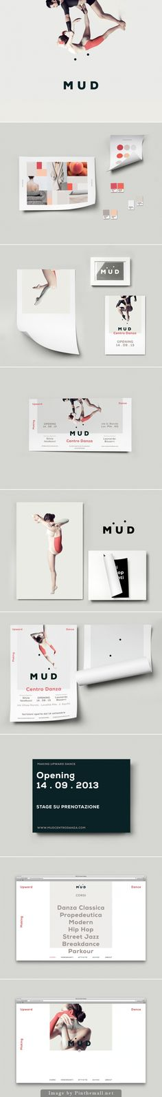 M.U.D / Art Direction and Graphic Design for M.U.D Dance Centre by The Clocksmiths #graphicdesign #collateral