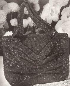 Vintage Crochet Beaded Bag Purse Handbag Pattern Retro | eBay