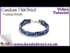 Kumihimo How To | Make a Flat Braid Kumihimo Friendship Bracelet | Jewellery Making Braids NEW video tutorial http://www.youtube.com/watch?v=VEpHaZY80dw
