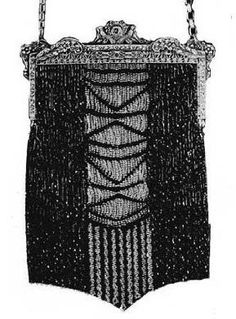Knit / Crochet Beaded Purses from: Hiawatha Book of Beaded Bags — 1927 Vintage Beading Patterns