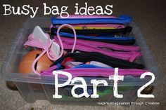 Website for Busy Bags Ideas