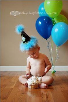 First birthday photo