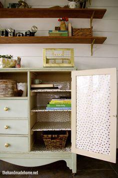 studio storage | the handmade home