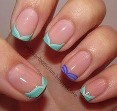 Disney French Manicure Ariel Inspired   @Jill Kroening