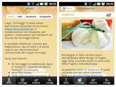 L'applicazione 'Formaggi' di UNC anche su Android