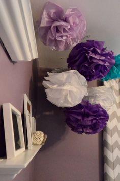 Pom Poms In Purple Nursery