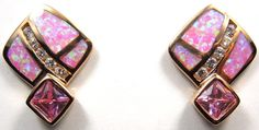 'Topaz Pink Fire Opal Earrings' is going up for auction at  7pm Tue, Sep 25 with a starting bid of $50.