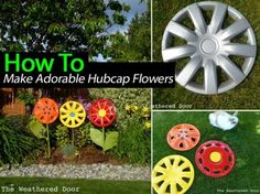 How To Make Adorable Hubcap Flowers