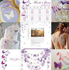 Summer Butterflies Wedding Styling Mood Board from The Wedding Community