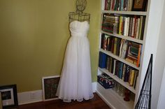 vintage 50's simple strapless wedding gown $345