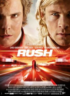And now for something completely different! Chris Hemsworth and Daniel Bruhl in ANOTHER boring RUSH movie poster