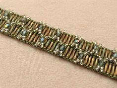 Double Cross Square Stitch Bracelet Free Beading Pattern