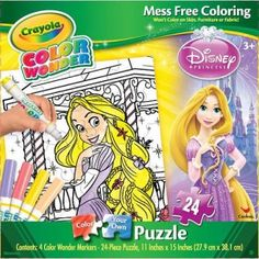 The @Crayola Color Wonder Color Your Own Puzzle Disney Princess Rapunzel is a 24-piece puzzle that kids put together and then color in using four included Color Wonder markers.