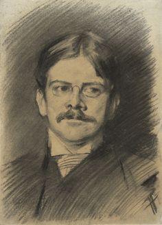 Edwin Austin Abbey retratado por John Singer Sargent