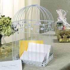 Amazon.com: White Birdcage Wedding Gift Card Holder Wishing Well: Home & Kitchen