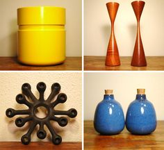 blog.2modern.com  Love the simplicity of these designs. I have one of those starburst candle holders in my collection!