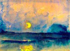Moon over the sea Emil Nolde (German, 1867-1956)