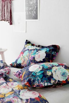 Plum & Bow Luna Flower Sham - Set Of 2 #urbanoutfitters