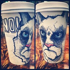 Amazingly Detailed Coffee Cup Art Sold for Charity by Miguel Cardona