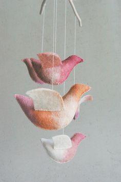 Baby mobile  nursery mobile  bird mobile  UNDER the by Patricija, $89.00
