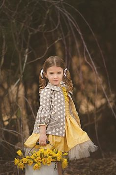 EASTER- Fancy dresses are adorable for outdoor sessions, too.  Bring along the matching coats/jackets, too.