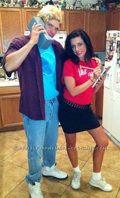 Coolest Saved by the Bell Homemade Couples Halloween Costume... This website is the Pinterest of costumes