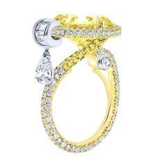 White and Yellow Diamond Ring