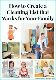 Creating Your Own Cleaning Schedule - How to Create a cleaning list that works for your family and lifestyle