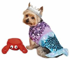 Casual Canine Glim-Mermaid Costume - SMALL