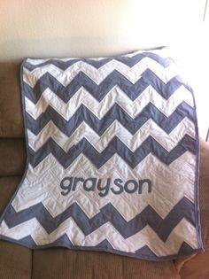 Baby Name Chevron (or Zig-Zag) Quilt
